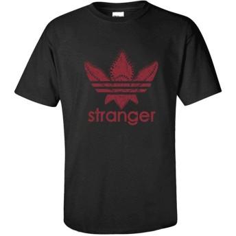 younicos Stranger Things ストレンジャー・シングス logo 半袖 Tシャツ メンズ 黒 XL