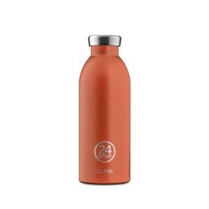 義大利 24Bottles 不鏽鋼雙層保溫瓶500ml - 夕陽橘夕陽橘