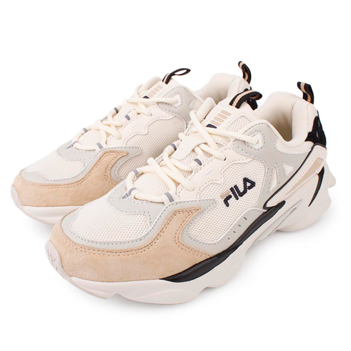 FILA SKIPPER 復古老爹鞋 男女鞋 情侶款 米 4-J528T-734