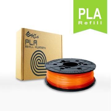 XYZ Printing 3D列印PLA線材補充包(透明橘)(RFPLBXTW07B)