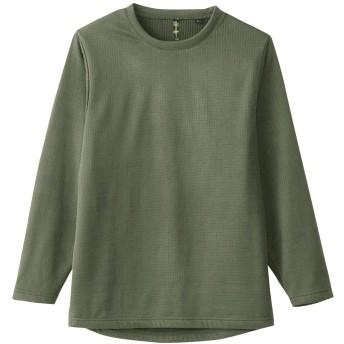 sowa(ソーワ) 長袖クルーネックシャツ ミリタリー調 ストレッチ保温インナーシャツ sw-50512 アーミー LL