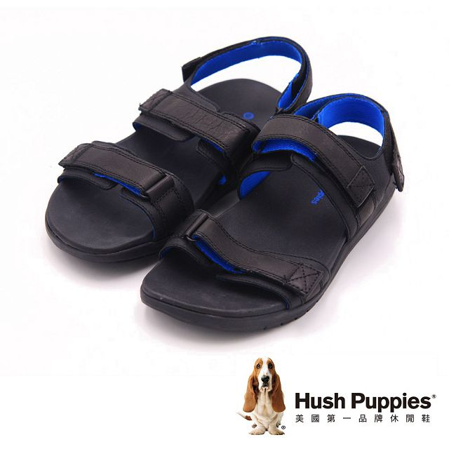Hush Puppies 機能健走系列ACTUALLY QUICK 涼鞋 男鞋 藍色