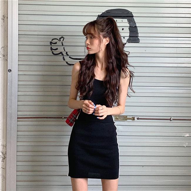 FOFU-套裝可鹽可甜法式桔梗超仙針織吊帶裙套裝【08G-M1307】