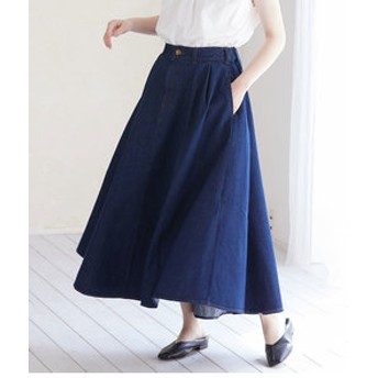 【ViS:スカート】【WEB限定】チノ&デニムボリュームスカート
