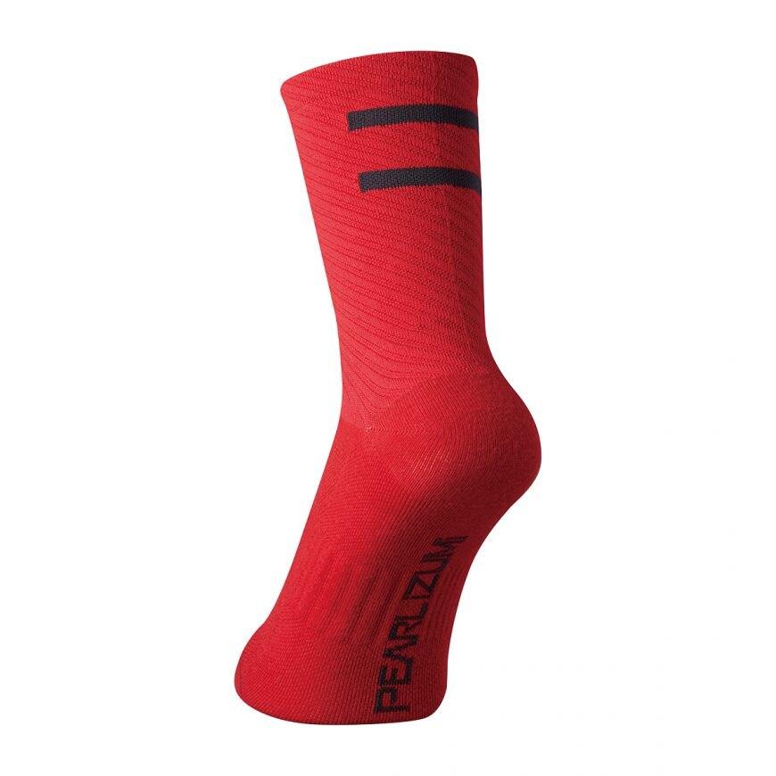 【7號公園自行車】PEARL IZUMI 1740-2 頂級車襪(紅)