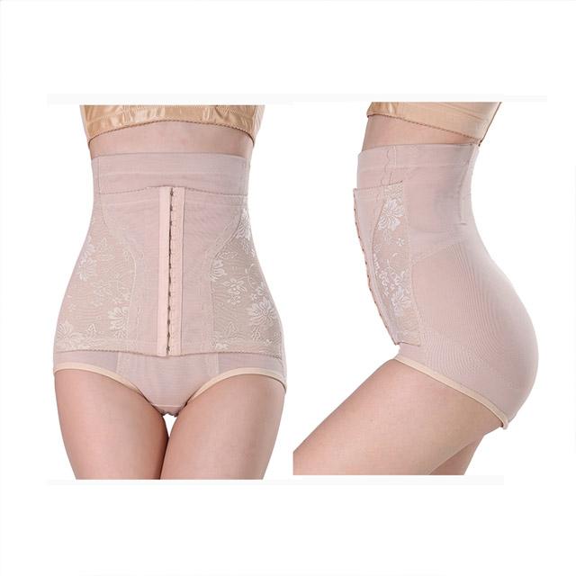 狐狸姬,M-3XL美儀排扣高腰收腹塑身褲收腹精腹透氣修飾塑身褲-單塑褲(膚)