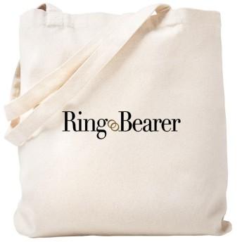 CafePress–リングベアラトートバッグ–ナチュラルキャンバストートバッグ、布ショッピングバッグ S ベージュ 0275732162DECC2
