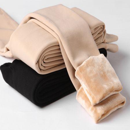 襪褲 光腿肉色打底褲女外穿薄款膚色神器秋冬裸感連襪秋褲加絨加厚棉褲
