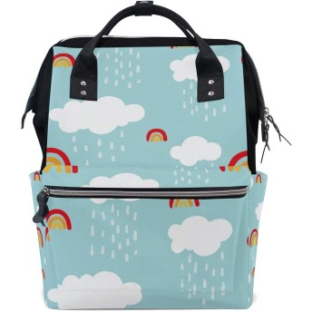 リュック 学生 マザーズバッグ 大容量 レディース メンズ 虹 雲 リュックサック バックパック 登山リュック デイバッグ おしゃれ 通勤 通学