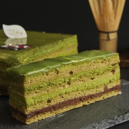 【七見櫻堂】八重茶宴 抹茶黑巧克力蛋糕-長條 380g (母親節蛋糕精選)