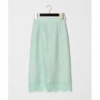 【GRACE CONTINENTAL:スカート】フラワーレーススカート
