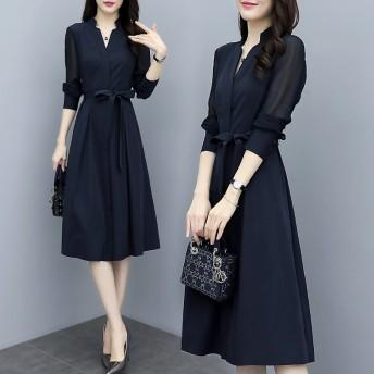 【送料無料】2020春季新品入荷 ロングワンピース /韓国ファッション/体型カバースカート上品ワンピース 大人気