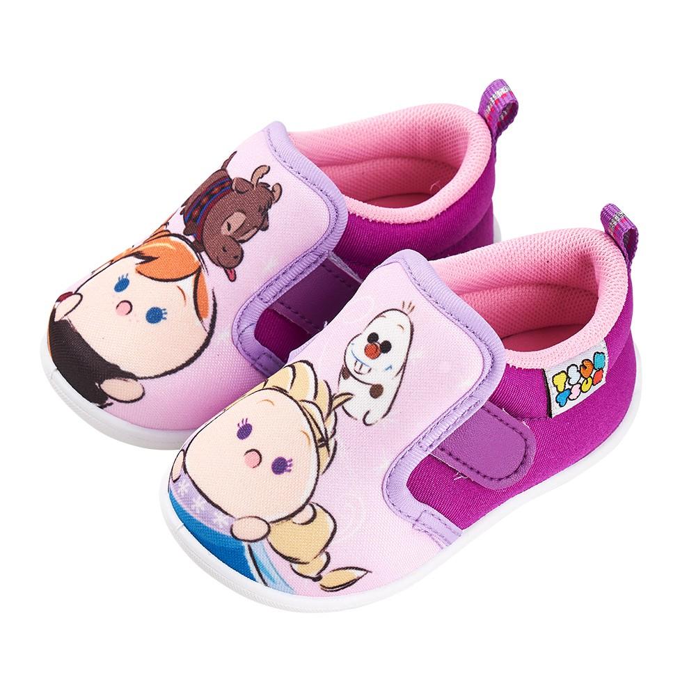 迪士尼童鞋 TSUMTSUM 冰雪造型學步鞋-紫
