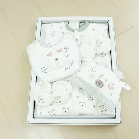 GMP BABY 米鹿夾棉兩用兔裝+圍兜+帽彌月禮盒