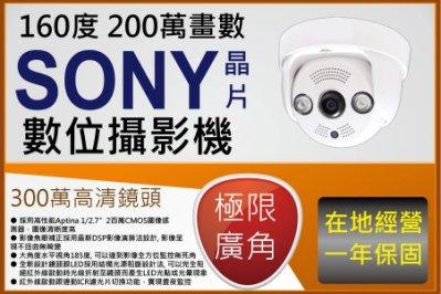 室內半球型 1080P 極限廣角 1.6MM 160度 畫面無變形300萬魚眼鏡頭 支援 AHD TVI CVI類比