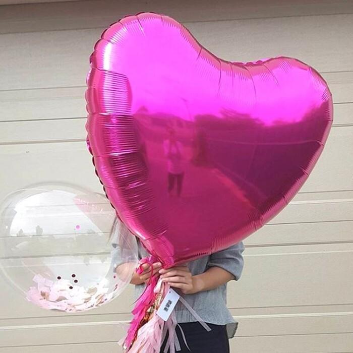 32吋愛心 鋁膜氣球 75公分 鋁箔心形 氣球 婚禮 場地佈置