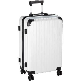 【神戸リベラル】 LIBERAL 軽量 スーツケース キャリーバッグ 8輪キャスター TSAロック YKKファスナー LB006 (M サイズ, ホワイトカーボン)