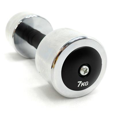 電鍍啞鈴7公斤橡膠握把-單支 C113-333707