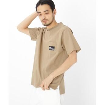 BASE STATION/ベースステーション BOX ロゴ 刺繍 半袖 Tシャツ ベージュ(052) 03(L)
