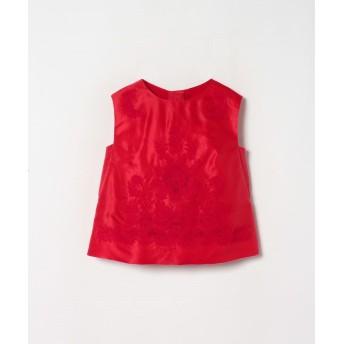 (LANVIN COLLECTION/ランバンコレクション レディス)コットンシルクサテン刺繍ブラウス/レディース ピンク