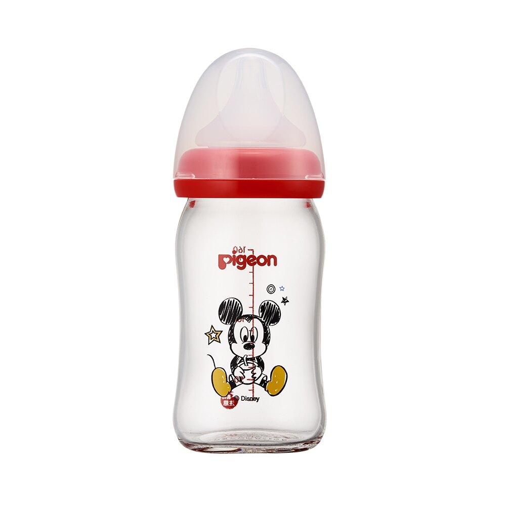 Pigeon貝親 - 母乳實感寬口玻璃奶瓶 迪士尼 米奇 160ml