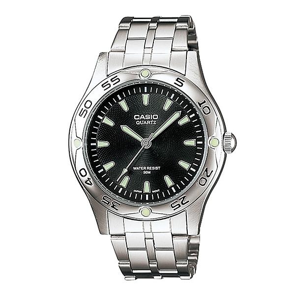 CASIO 卡西歐 夜光遊俠指針不鏽鋼錶 黑面 MTP-1243D-1A