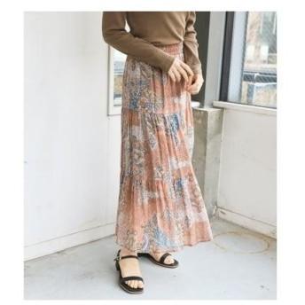 アヴァンリリィ AVAN LILY FLORIAN FLOWERティアードスカート (オレンジ)