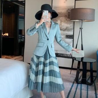 スーツ ジャケット レディース 春物 新作 流行 フェミニン 人気 上品 痩せ見え 2点セット 通勤 OL