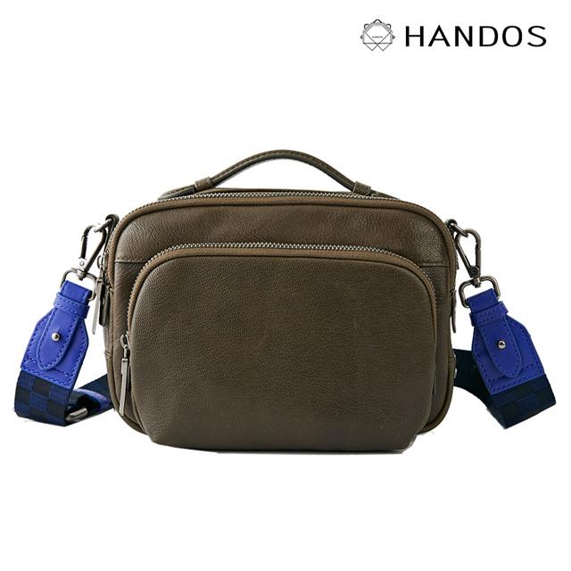 HANDOS|Filter 水洗皮革經典相機包 - 橄欖
