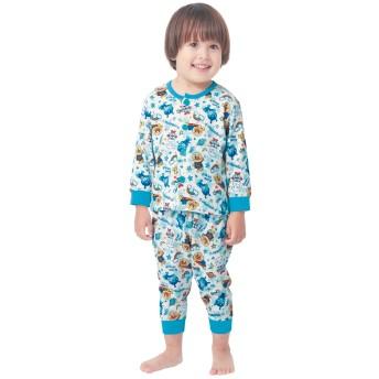 男の子前開き総柄パジャマ【ベビー服】