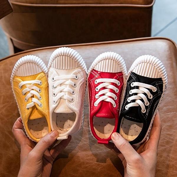 小寶寶鞋 春秋款 兒童帆布鞋 餅干鞋板鞋 幼兒園小白鞋