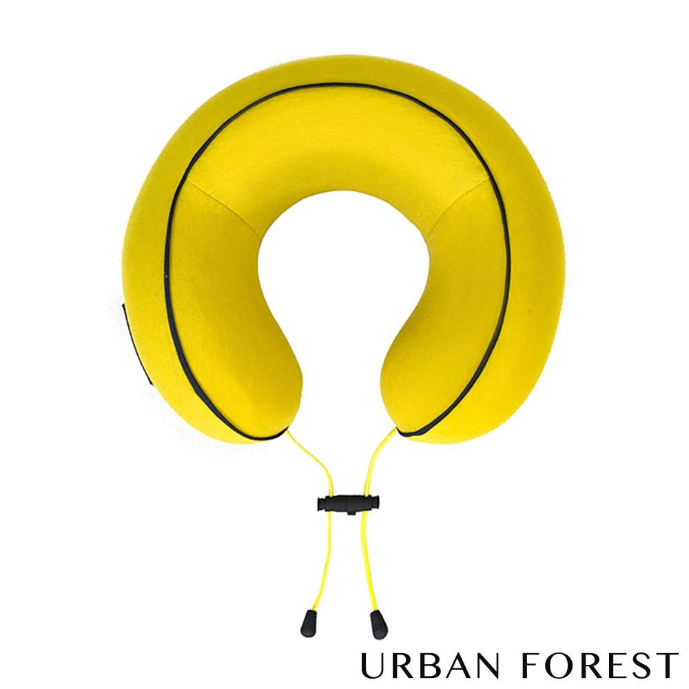 URBAN FOREST都市之森 花卷-旅行頸枕/午睡枕 (薑黃)
