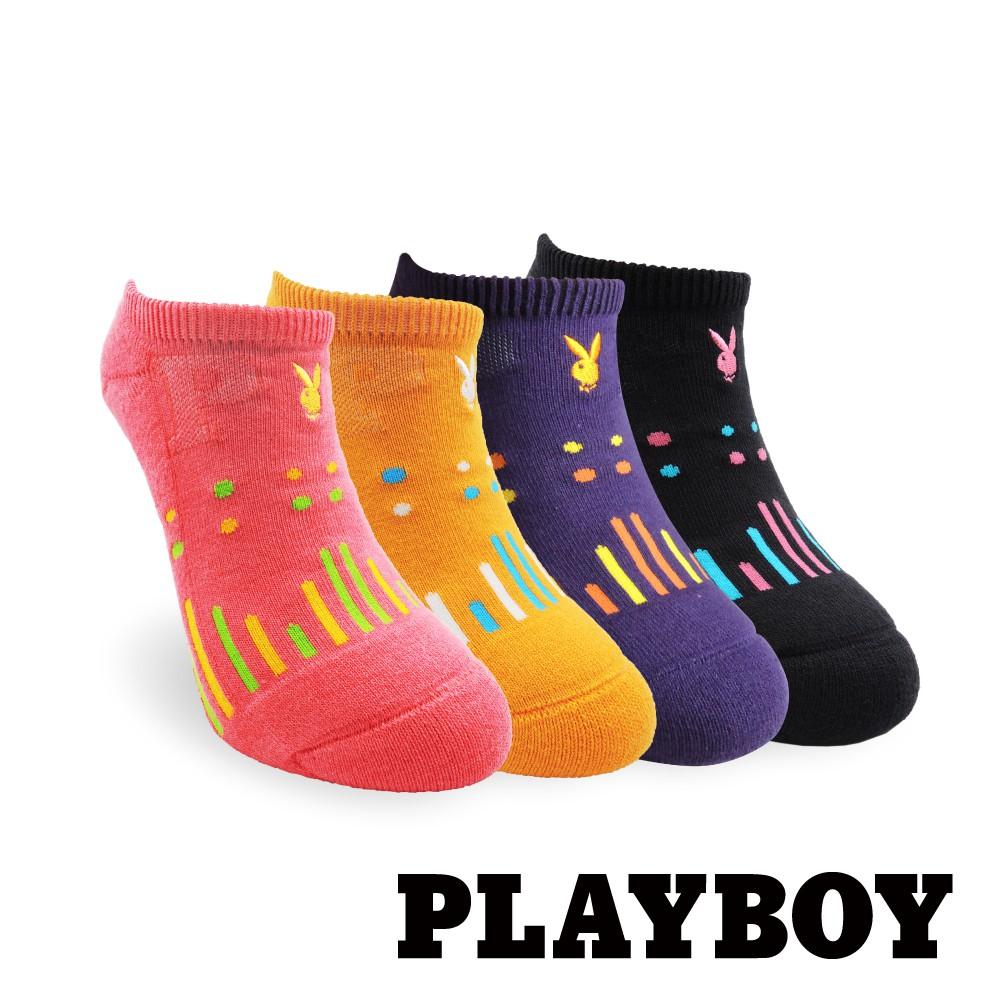 【PLAYBOY】點點雨滴運動襪│襪子│女襪│短襪│舒適運動│高含棉異味OUT