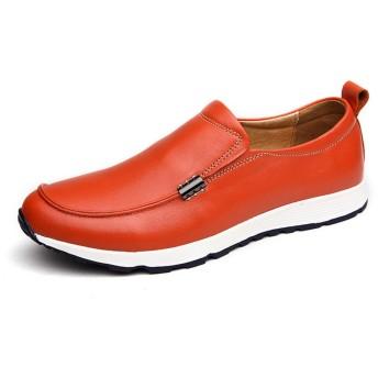 [LWSJP] ビジネスシューズ メンズ 紳士靴 革靴 本革 男性 高級靴 ストレートチップ フォーマル 冠婚葬祭シューズ カジュアル (Color : Orange, サイズ : 23.5 CM)