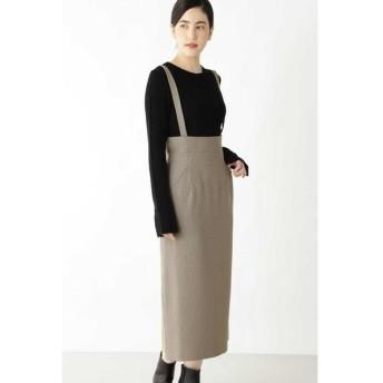 HUMAN WOMAN/ヒューマンウーマン [一部店舗限定] ウォッシャブルストレッチハイウエストスカート ベージュ系3 M