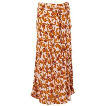 【エポカ ザ ショップ(EPOCA THE SHOP)】 【Diane von Furstenberg】ガーデンプリントスリットスカート オレンジ1