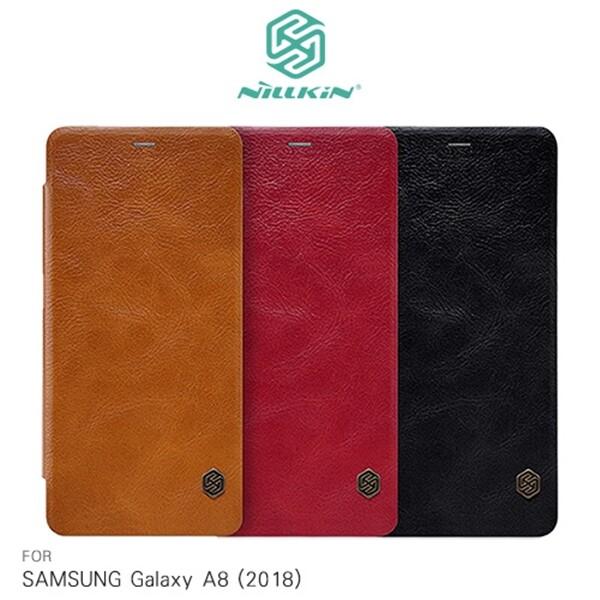 samsung 三星 galaxy a8(2018)(a530f) nillkin 秦系列側掀皮套