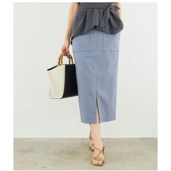 ROPE'/ロペ ポケット付きストレッチタイトスカート ブルー(44) 36