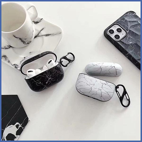 蘋果 AirPods 保護套 大理石 Apple藍牙耳機盒 保護殼