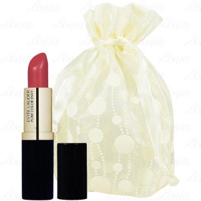【真品平輸】ESTEE LAUDER 絕對慾望奢華潤唇膏精巧版(#420)(2.8g)旅行袋組