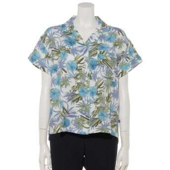 75%OFF Dickies (ディッキーズ) Dickiesサボテン柄レーヨンパイピングS/Sオープンカラーシャツ White