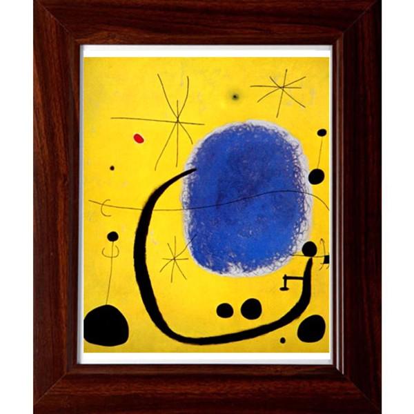 開運陶源【微笑】Miro米羅 抽象畫 世界名畫 掛畫 複製畫 壁飾 38x32cm