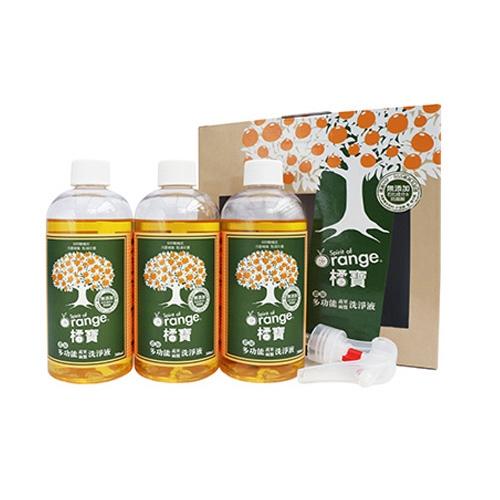橘寶 濃縮多功能洗淨液(環保組合)300mlx3入【小三美日】D230587