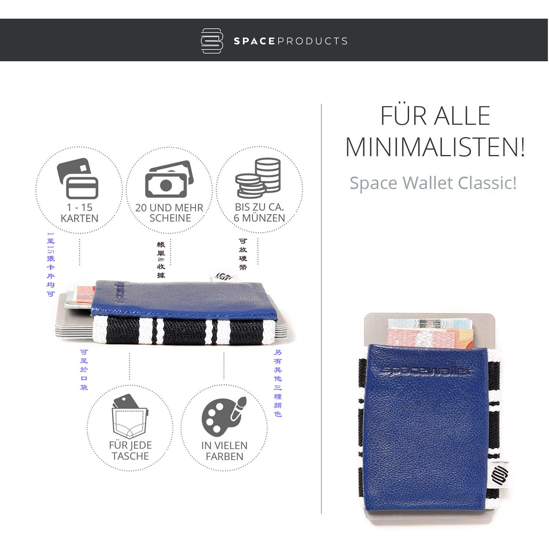 Space Wallet口袋型輕量卡夾鈔票零錢夾(咖啡色)