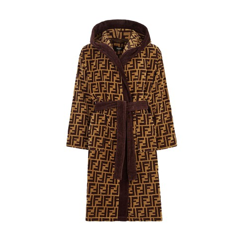 Multicolour fabric bathrobe