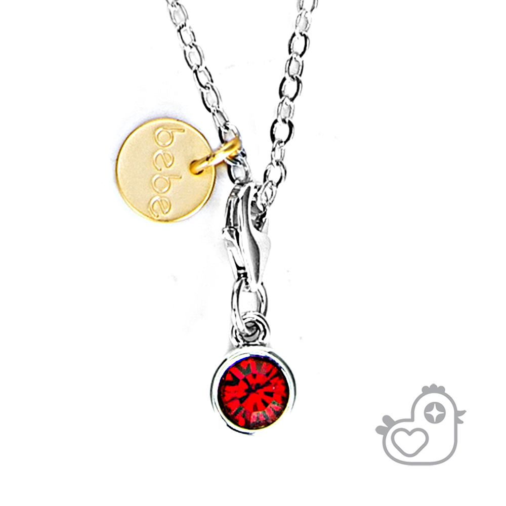 Caramelo 彩糖鑽工坊  紅水晶項鍊  親子&閨蜜 彩糖貝貝繽紛寶石系列
