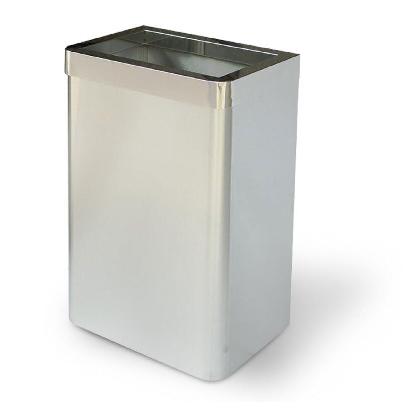 西瓜籽 不鏽鋼垃圾桶(圓弧角無內桶) TH-70SR 收納桶 垃圾筒 桶子 雜物收納 遊樂場 辦公室 收納桶 廚餘桶