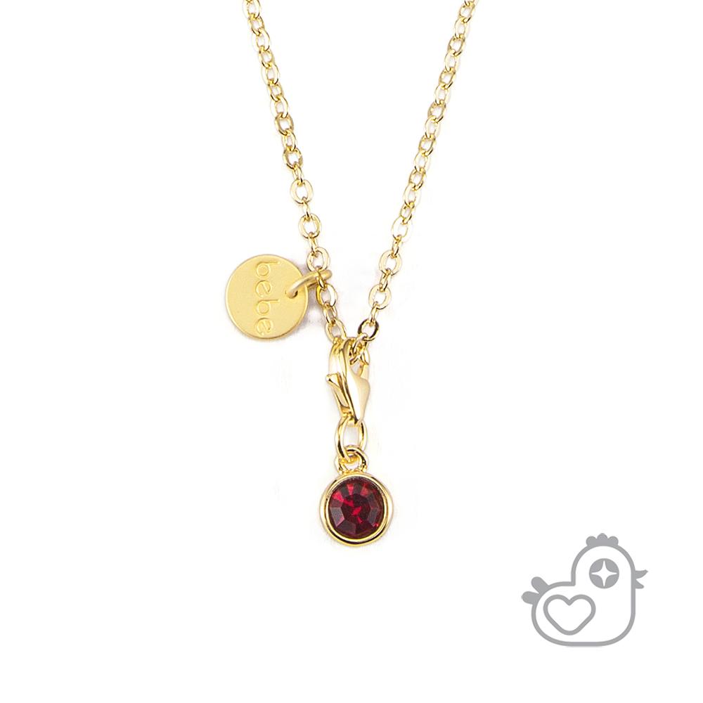 Caramelo 彩糖鑽工坊 紅色水晶項鍊 親子&閨蜜 彩糖貝貝繽紛寶石系列