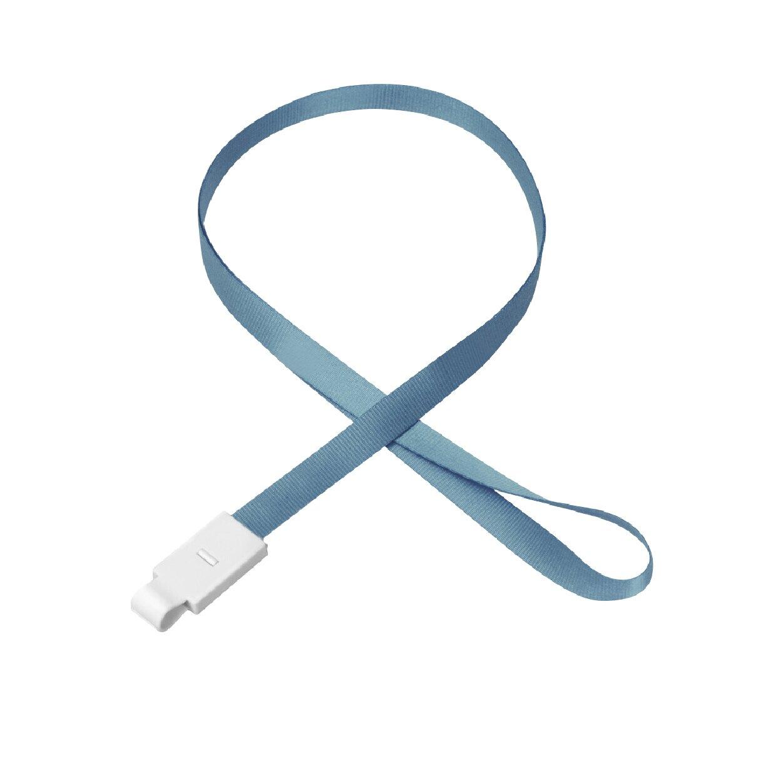 (灰藍色)UHOO 6734 平帶掛繩 卡套 識別套 員工證 掛繩 掛繩 名牌套