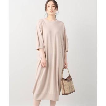 VERMEIL par iena 【LEMAIRE/ルメール】ニットドレス ピンク フリー